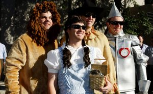 Some of the New York Yankee rookies in their Wizard of Oz costumes.