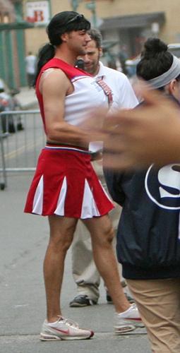 Boston Red Sox Jonathan Van Every as the hot cheerleader.
