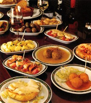 A table of tapas.