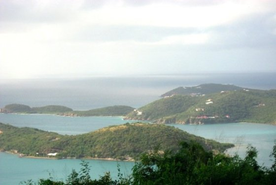 St. Thomas from the top of a mountain.