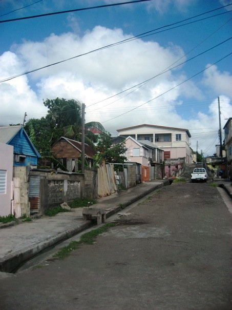 Part of the residential portion of town.