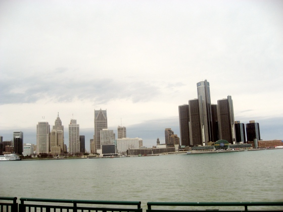 Detroit Skyline from Canada.