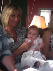 Shannon's mom, Linda, and Pam & Joe's little girl, Ryleigh.  That kid is CUTE!
