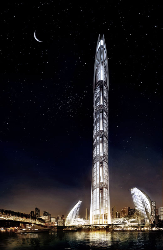 Worlds tallest skyscraper, scheduled to open in 2011.