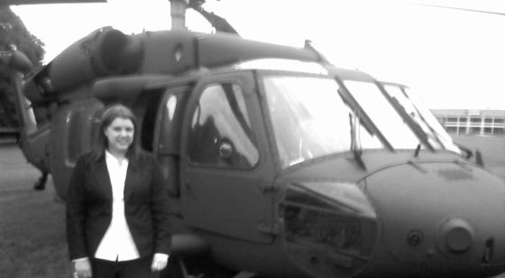 My awkward face definitely ruined this picture, but this is me & the Blackhawk.